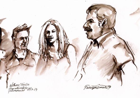 Skizze von Rainer Simon